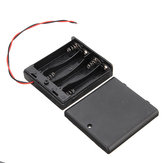 5 adet 4 Yuvaları AA Batarya Kutu Batarya 4xAA Bataryalar DIY kiti için Anahtarı ile Tutucu Kurulu Kılıf