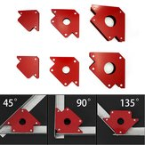 6Pcs Magnetic Welding Locator Set Holdl 25lb 50lb 75lb Multi Angles Tool
