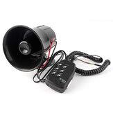 12V 100W 6 Som Alto Alarme de Aviso de Carro Polícia Sirene de Bombeiros Buzina de Ar PA