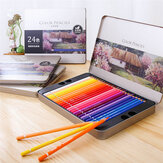 Deli 	24/36/48/72 Colors Pencil Set Wood Oily Color Lead Set Stationery Sketching Painting For School Students Supplies