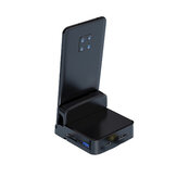 Biaze R42 Type-C Mobile Phone Dock to USB HD Memory Card Display Splitter Office Base for Huawei Glory Android Phones