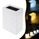À prova d 'água LED Luz Solar Cerca Lâmpada De Parede Ao Ar Livre Jardim Paisagem Luz Branco / Branco Quente