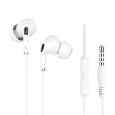 Langsdom R34 con cable de 3,5 mm Auricular Monitor Sistema con Micrófono y control de volumen Auriculares con cancelación de ruido para iPhone Huawei LG