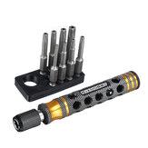 8 Adet RJX RJX3045BK 1/4 İnç 6.35mm Uzunluk 50mm Torx Başlı Elektrikli Tornavida T8/T10 / T15 / T20 / T25 / T27 / T30/T40 Uçlu Uç