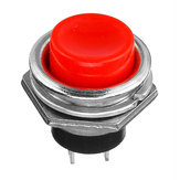 10Pcs 3A 125V Momentary Push Button Switch OFF-ON Horn Red Plastic
