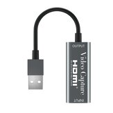 4K 1080P HD HDMI para USB 2.0 com cabo portátil HDMI Video Recording Capture Card Game Transmissão ao vivo Câmera Video Capture Caixa