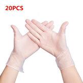 MIANDASHI 20 * Pcs Desechable PVC BBQ Guantes Impermeable Seguridad contra infecciones Guantes