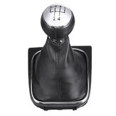 5 Speed Shift Gear Knob Boot Cover PU Leather For VW EOS GOLF MK5 V 6 VI