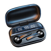 Lenovo QT81 TWS bluetooth 5.0 Telefon Kulaklığı LED Güç Ekran 1200mAh HiFi Stereo Bas Su Geçirmez Spor Kulaklık Mikrofonlu Kulaklık