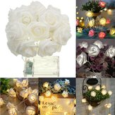 Batterie Powered 1M 9LEDs chauds blanc intérieur Décor de chambre à coucher Wedding Rose Flower Fairy String Light