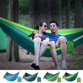 Balanço de jardim ao ar livre para 2 pessoas com rede dupla cama suspensa Viagem de acampamento