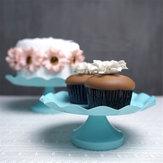 3 Boyutu Mavi Yuvarlak Kek Cupcake Standı Kaide Dessert Tutucu Düğün Parti Süslemeleri