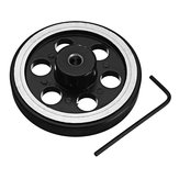 4Pcs 65mm 6mm Hole Diameter Metal Wheels for Smart Robot Chassis Car
