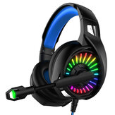 YoBo A20 RGB Metal headphones Gaming Headset With Microphone 7.1 Channel Head-Mounted Desktop Computer Notebook  3.5MM+USB Interface Mobile Phoneired