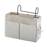 Nachttisch Aufbewahrungstasche Nachttisch Regal Korb Rack Leinwand Aufbewahrungskorb Schlafsaal Home Organizer