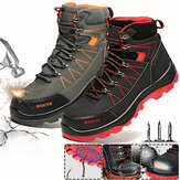 ATREGO Smash-proof and Puncture-proof Breathable Safety Shoes Steel Toe Cap Wear-resistant Work Boots Protective Hiking Boots for Men