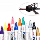 TOYO RC 8 ml Marcador Pintura Caneta Vermelho Roxo Azul Ouro para o Kit Quadro FPV Corrida Zangão DIY Design