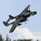 Dynam Northrop P-61 Black Widow 1500mm Envergadura Twin Motor EPO Warbird Fighter RC Airplane PNP
