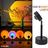 180° Rotation Sunset Projection LED Light Rainbow Sunset Projection Lamp Floor Lighting Lamp Night Light for Home Bedroom Coffee Shop Wall Decoration