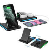 Bakeey 4 in 1 15W Magnetic Foldable Wireless Charger Stand Pad for iPhone 12 11 XR X 8 for Apple Watch for AirPods 2 for Samsung Galaxy Note S20 ultra Huawei Mate40 OnePlus 8 Pro