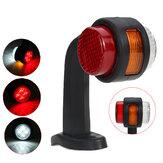 Левая / правая сторона 12V 24V Боковой габаритный фонарь Индикатор резиновой светодиодной лампы Прицеп