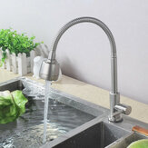 Brush 304 Stainless Steel Kitchen 360° Cold Water Swivel Spout Single Handle Sink Faucet Pull Down Spray Mixer Tap