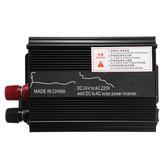 1000 W Pico 12 V / 24 V DC para 110 V / 220 V AC Inversor de Energia Solar LED Modificado Conversor de Onda Senoidal Preto