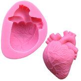 Пищевой сорт Силиконовый Формовочное средство для выпечки DIY Печенье с чокальной выпечкой Ледяной поддон Инструмент Сердце Форма
