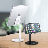 [Upgrade Version] TOPK D02 Telescopic Desktop Mobile Phone Tablet Holder Stand for iPad Air for iPhone 12 XS 11 Pro POCO X3 NFC Mi10