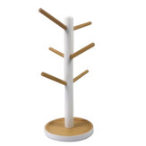 Tree Branch Type Wooden Cup Holder Kitchen Shelf For Coffee And Tea Cup Draining