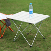 Ultra Light Aluminum Outdoor Folding Table Camping Barbecue Stall Portable Tea Table Stool with Organizer Bag