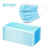 50 Pz Monouso Medico Bocca facciale Maschera Respiratore a 3 strati Mascheras Protezione personale antipolvere
