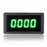 4 Misuratore di velocità RPM contagiri digitale verde LED con sensore interruttore di prossimità Hall NPN