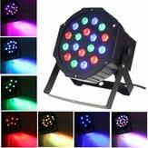SOLMORE 18W DMX-512 RGB LED Par Stage Lighting Party DJ Disco KTV Natale proiettore Luce AC110-220V