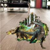 Miico3DCriativoPVCAdesivosde Parede Home Decor Mural Art Decalques De Parede Removível Dinossauro