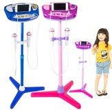 Verstellbarer Stand mit 2 Mikrofonen Karaoke Musik Spielzeug für Kinder