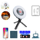 IPRee® 2-in-1 Tent Fan Light Magnetic 2 Modes Camping Light 3 Modes Hanging Hook Cooling Fan Emergency Power Bank for Hiking Travel