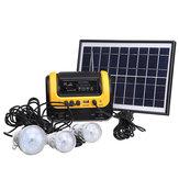 Gerador Solar DC Solar Powered System com Rádio MP3 Solar Power Supply Lanterna