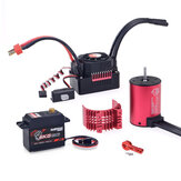 SURPASS HOBBY KK 3650 Motor Brushless 3100KV 45A Brushless ESC 6KG Metal Gear Servo para 1/10 RC Car