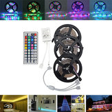 15M SMD3528 No impermeable RGB 900 LED Strip Light Kit + 44 Teclas Controlador + Cable Conector DC12V