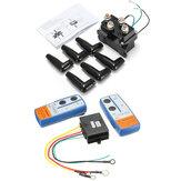 Solénoïde de contrôle de relais de treuil de contacteur lourd 12V 500A + télécommande sans fil de treuil pour camion ATV UTV
