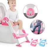 Kinder-Toilettenleiter Umwelt-PP-Material Zusammenklappbares Baby-Kleinkind-Töpfchen-Toiletten-Stuhlsitz