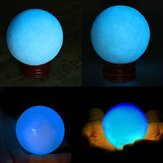 50mm Blue Glow In Dark Stone Luminous Pearl Cuarzo Crystal Sphere Ball Night Pearl