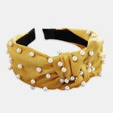 Silk Headband Solid Color Sponge Hair Accessories