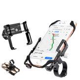 GUB P10 55-100mm Ancho 3.5-6.2 pulgadas Soporte para teléfono con Silicona Soporte para clip de manillar de montaje en correa para ciclismo