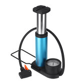 Portable Mini Bicycle Bike Air Pump Ball Inflator Kit with Gauge Foot Floor