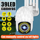 Guudgo 1080P 39 LED Outdoor PTZ IP Camera Two Way Audio Wifi Camera Auto Waterproof Night Vision CCTV Video Surveillance
