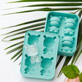 MITU 2 unidades / conjunto de gelo em forma de coelho Cube Silicone Molde de gelo Gelo Chocolate Jelly Tray Tray Maker DIY Ferramentas de presente