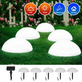 5 LED Lawn Lights Hemisphere Solar Powered Outdoor Lighting Garden Decoration