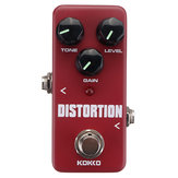 KOKKO FDS-2 Mini Distortion Guitar Effects Pedal True Bypass Pedal for Electronic Guitar Bass